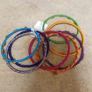NWT threaded  bangles